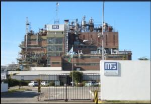 Vista del frente de la planta industrial de Mafissa