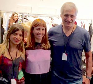 Carolina Brunt (Marketing de Epson, Vanesa Kongold y Pablo-Roust ( Country Manager de Epson Argentina) en el MBFW