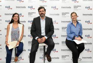 Maria Fernanda Galeano, Carlos Eduardo Botero y Juliana Villegas, directivos de Colombiamoda, trazaron ante la prensa un balance de la última edición.